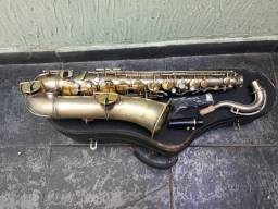 Sax Tenor Melody Em Dó York Usa Saxofone De Luthier Troco+$ 12x no cartão