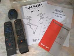 Título do anúncio: Manual e acessórios do Televisor Sharp de 29 polegadas C29ST98 (Modelo com PIP)