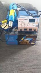 Estação de solda YAXUN 886D 110V Nunca usado nova na caixa+sugador de solda Sug-max