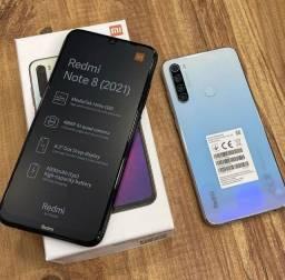 Xiaomi Redmi Note 8(2021) branco 64Gb/4Gb e azul 128Gb/4Gb