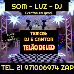 Título do anúncio: SOM LUZ DJ TELÃO LED EVENTOS EM GERAL