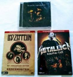 Cd Black Sabbath -Led Zeppelin -Metallica.(Novos)
