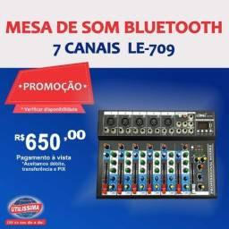 Mesa de som bluetooth  7 canais  Lelong - 709