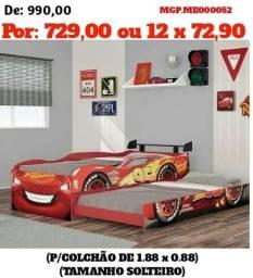 Bicama Infantil Carros - Top de Linha - Direto da Fabrica