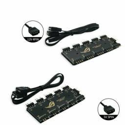 Splitter cooler/fan RGB (3 pin ou 5 pin/ 5v ou 12v)