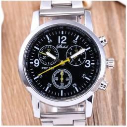 Relógio de Pulso Banda De Aço De Luxo Masculino