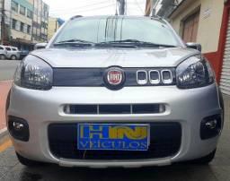 Fiat uno way motor 1.4 8v evo flex 4p prata ano 2015 raridade 36.000km ipva2021pgvist.