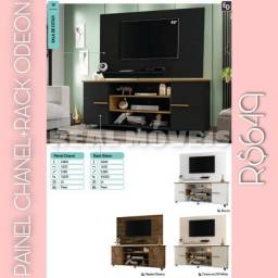 Painel Chanel e rack odeon 649.a wq. W R ty. Y u