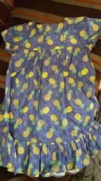 Vestido infantil em tecido NOVO