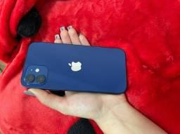 Vendo IPhone 12 64 GB preto e azul