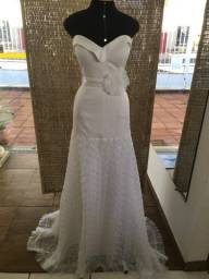Vestido de noiva NOVO crepe e tule