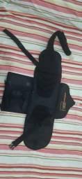 mochila skate bag vertical grátis um kit de proteção