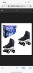 Vendo patins feminino roller 4 rodas com luz recarregável