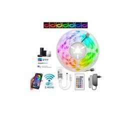 Fita Led Rgb 5050 + Central Controle Wifi + Fonte 12v Alexa