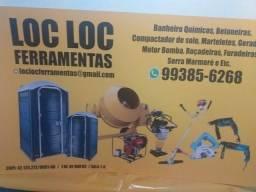 Título do anúncio: Banheiro químicos Betoneira compactador de solo