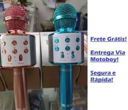 Microphone Ajuste de ECO, Batida e Volume) (Karaokê) Com Efeito Mixer - Frete Já Incluso!