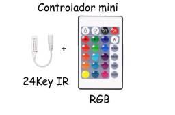 Controladora De Led Infravermelho Rgb Com Controle Remoto Ir