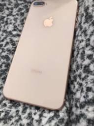Iphone 8 plus / 256g + 3 capas + película de vidro
