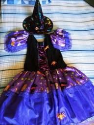 Título do anúncio: Vendo vestido de bruxa para Halloween