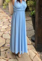 Título do anúncio: Vendo Vestido Azul Celeste Multiforma