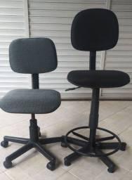 Título do anúncio: 2 Cadeiras giratórias