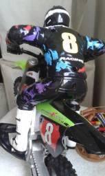 Brinquedo motocicleta com piloto  rara max tech tpys de corrinda racing 39cm original USA