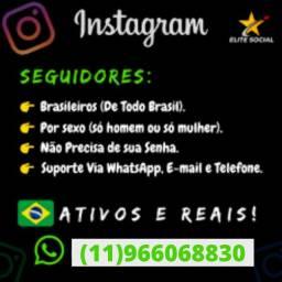Título do anúncio: Seguidores Reais E Brasileiros Barato