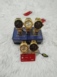 Título do anúncio: Relógio masculino na caixa original para qualquer ocasião