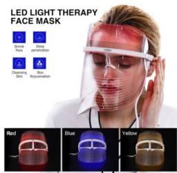 Máscara Facial Led tratamento da pele (3 Cores)