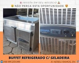 Buffet refrigerado com pista fria + refrigerador inferior - Refrisul | Matheus