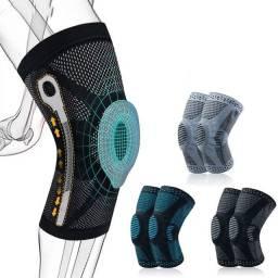 Joelheira Techfit  apropriada a esportes de fitness -suporte patela proteção silicone <br><br>
