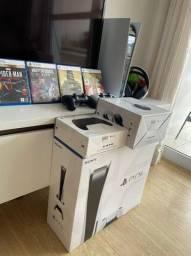 Título do anúncio: Playstation 5 PS5 Completo 2 controle e 4 Jogos
