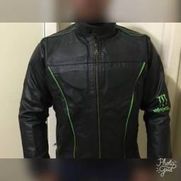 Jaqueta de couro monster