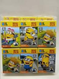 Coleção lego minions 6 bonecos para colecionar e montar