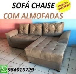 Não Perca Tempo,Receba No Mesmo Dia!!Sofa Chaise com Almofadas Apenas 699,00