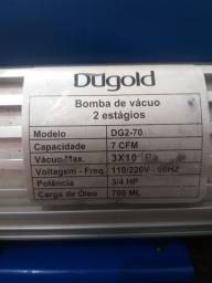 Bomba de vácuo 7 cfm duplo estágio