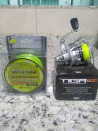 Kit Ultralight Molinete Tiga e vara Triton