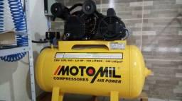 Comprenssor a ar motomil 10 pés 100 litros
