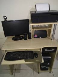 Computador completo c/impressora e mesa