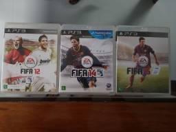 Fifa 12, 14 e 15 - PS3 - Jogos originais em mídia física - produto usado