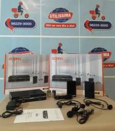 Microfone De Lapela Kit Duplo Transmissão Lelong Le-910