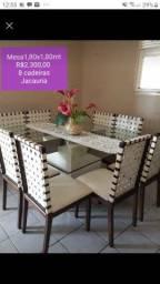 Vendo mesa com 08 cadeiras Jacauna