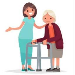 Sou cuidadora de idosos e acompanhante hospitalar