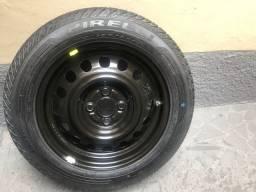 Estepe roda honda + pneu 175/65-15 pirelli zero sem uso