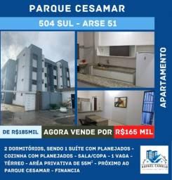 Apartamento - 2 Dormitórios sendo uma suíte, 55m², 1 Vaga, Mobiliado - 504 SUL