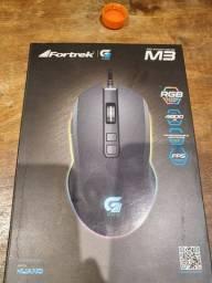 Mouse para jogo Fortrek Pro M3 RGB Gamer preto