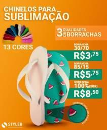 Chinelo para sublimação 100% (SBR) borracha