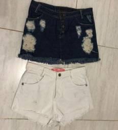2 Saias e 4 Bermudas Jeans do 40 ao 42