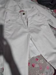 Calça branca e jaleco