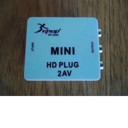 Mini Adaptador Conversor De Hdmi Para Vídeo Composto 3Rca Av